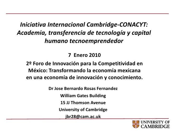 Iniciativa Internacional Cambridge-CONACYT