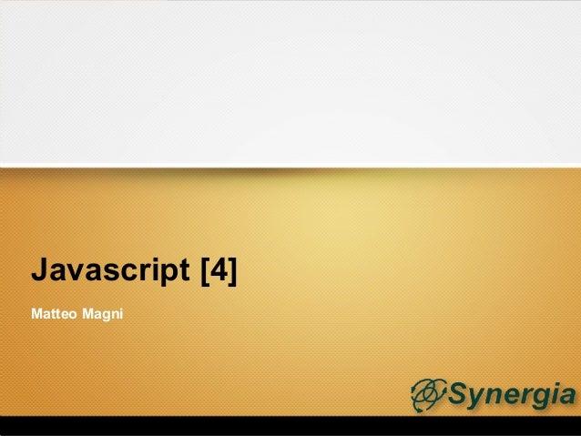 Javascript [4]Matteo Magni