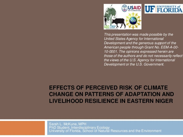 This presentation was made possible by the United States Agency for International Development and the generous support of ...