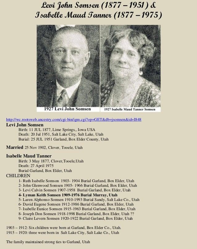 Levi John Somsen & Isabelle Maud Tanner
