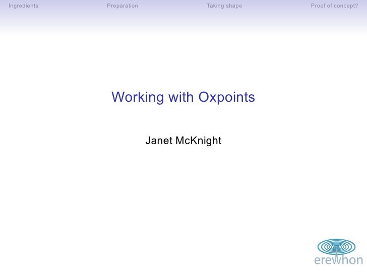 Working with Oxpoints