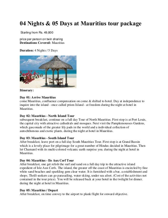 4 N/ 5D Mauritius Holiday Tour Packages From India With Joy Travels
