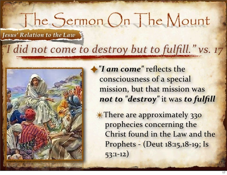 jesus and law of the prophets essay All of this helps explain what often seems contradictory about the nt view of the  law on one hand, jesus said the law was perfect, that.