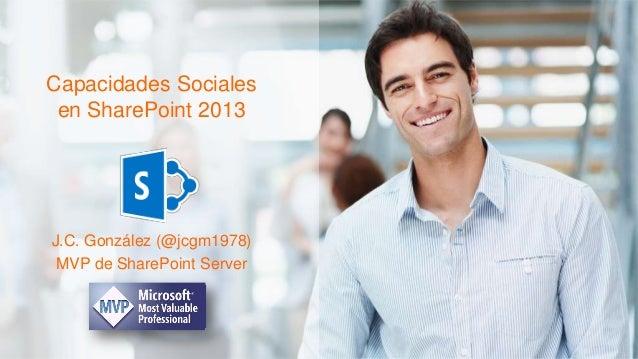 Capacidades Sociales SharePoint 2013