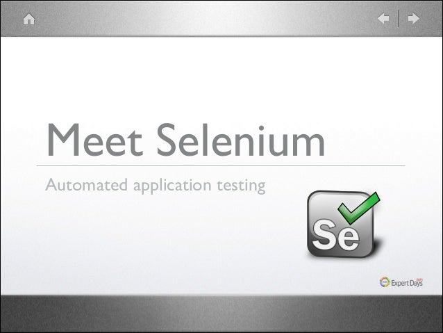 Meet Selenium Automated application testing