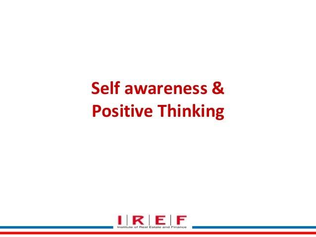 Self awareness & Positive Thinking