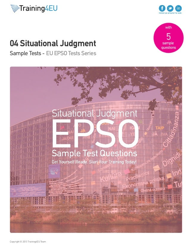 Situational Judgment Sample Test EU EPSO