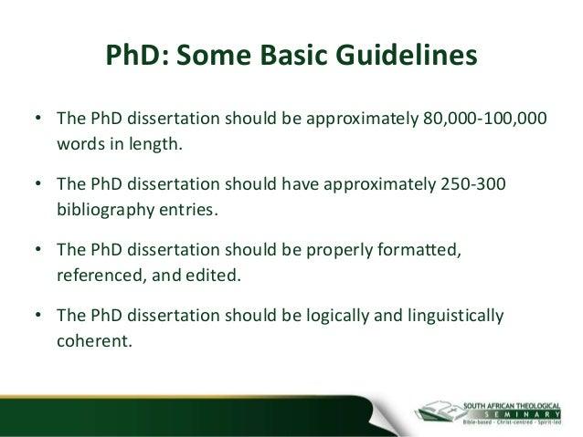 Dissertation Length Psychology