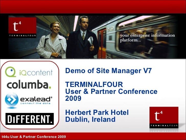 TERMINALFOUR t44u 2009 - Demo of v7 David Miller & Paul Kelly - TERMINALFOUR launch of Version 7