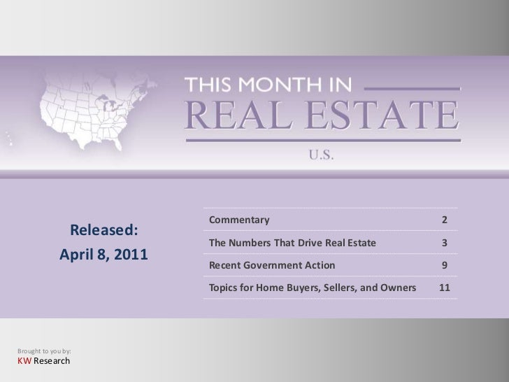 This Month in Real Estate- U.S. Market: April 2011