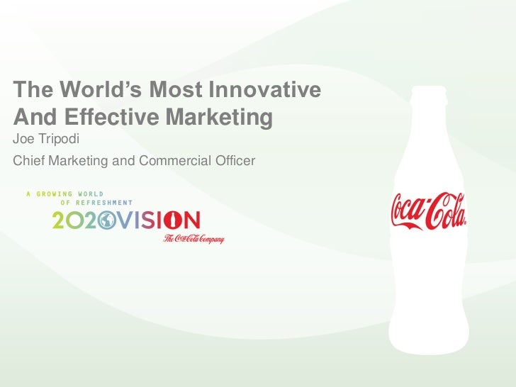 The World's Most Innovative And Effective Marketing Joe Tripodi Chief Marketing and Commercial Officer