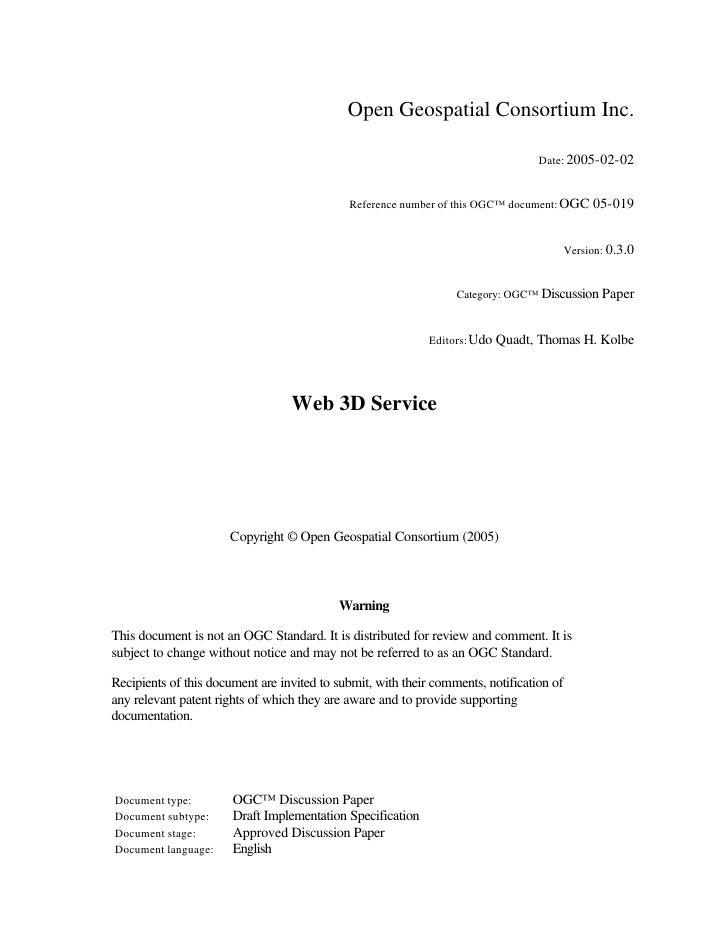 Open Geospatial Consortium Inc.                                                                                     Date: ...