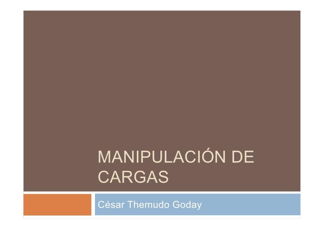 MANIPULACIÓN DE CARGAS César Themudo Goday
