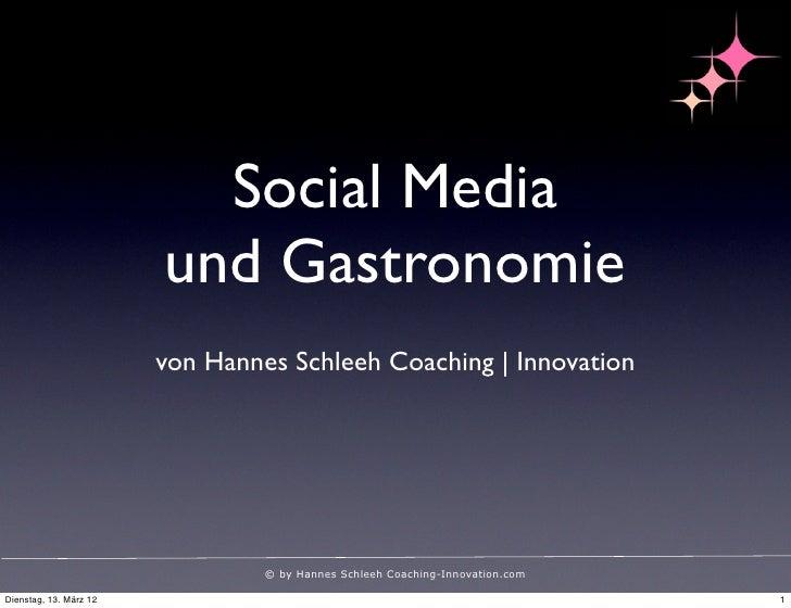 Social Media in der Gastronomie