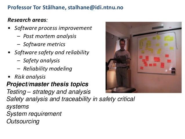Masters thesis ntnu