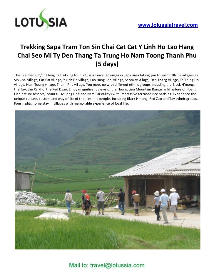 Trekking Sapa Tram Ton Sin Chai Cat Cat Y Linh Ho Lao Hang Chai Seo Mi Ty Den Thang Ta Trung Ho Nam Toong Thanh Phu