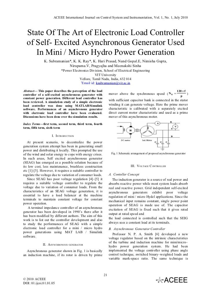 phd thesis on induction generator Developed in phd thesis: contribution to the analysis of variable speed wind turbines with induction generator by stavros a papathanassiou athens, 1997 table of contents 1.