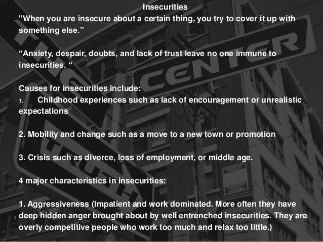 Understanding Insecurities
