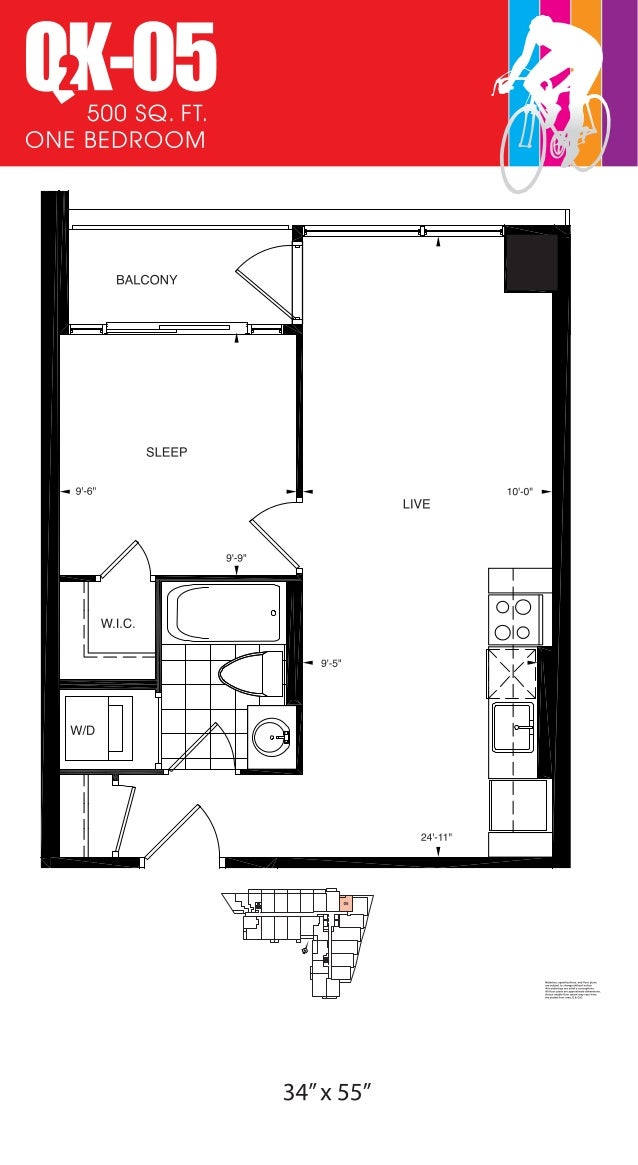 570 SQ. FT. ONE BEDROOM K-18O Materials, specifications, and floor plans are subject to change without notice. All renderi...