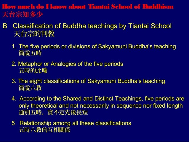 How much do I know about Tiantai School of Buddhism 天台宗知多少 B Classification of Buddha teachings by Tiantai School 天台宗的判教 1...