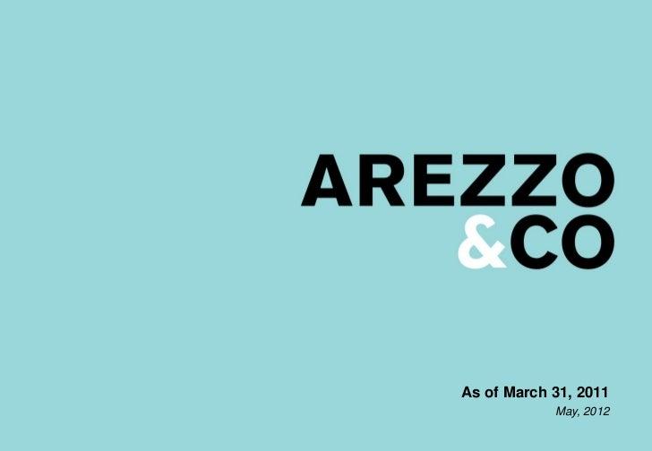 | Apresentação do Roadshow                     As of March 31, 2011                                 May, 2012             ...
