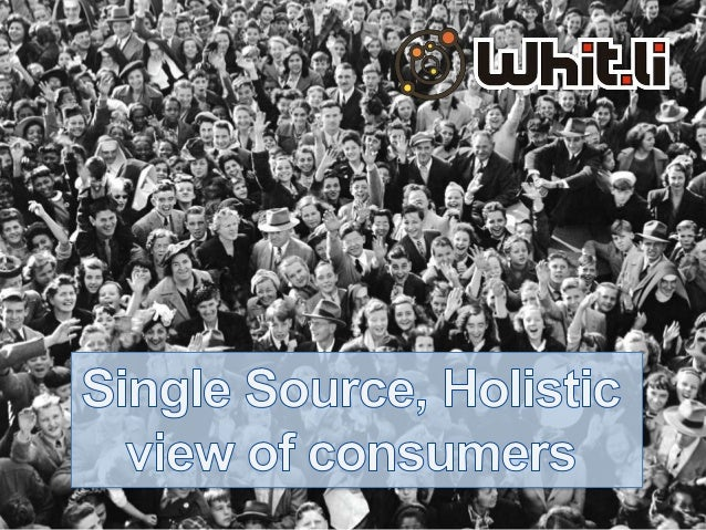 Insight Innovation Challenge: Single-Source & Holistic Views Of Consumers by Murray McKerlie of Whit.li - Presented at the Insight Innovation eXchange North America 2013
