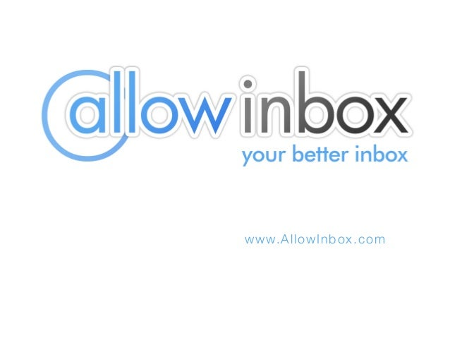 Introducing AllowInbox