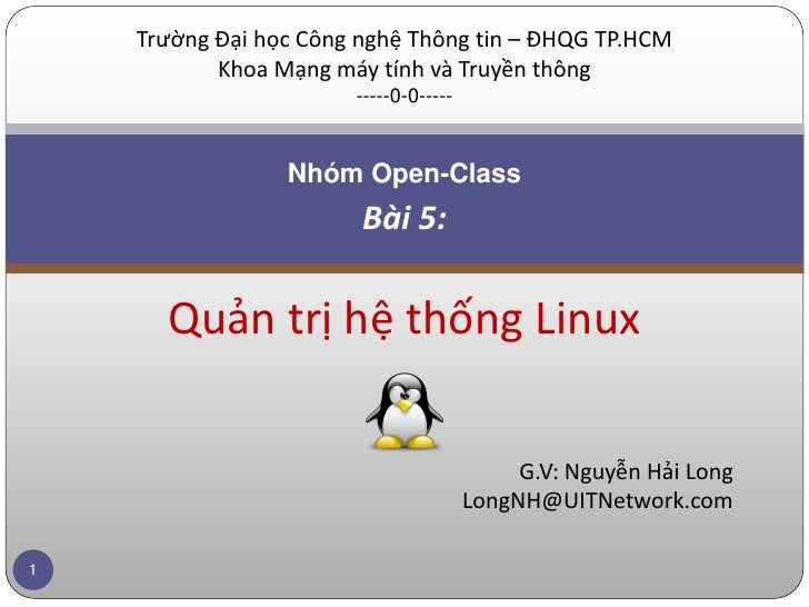 Lesson 5 - Administering Linux System (1)