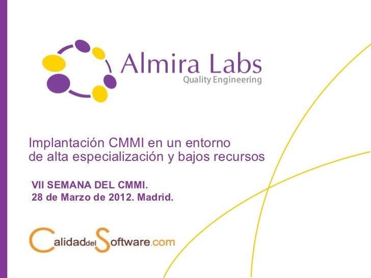 05 Almira Labs VII Semana CMMI