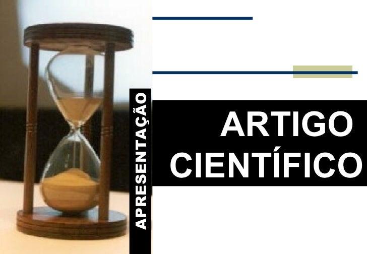 Artigo cientifico conceito