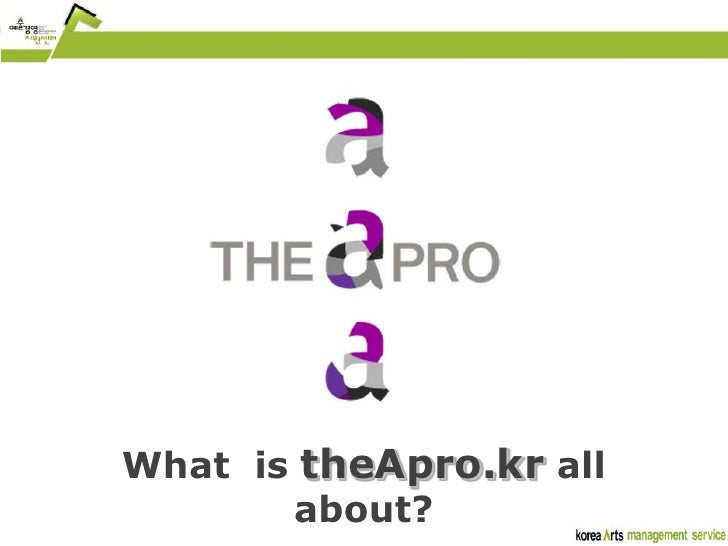 What  is theApro.kr all about?<br />