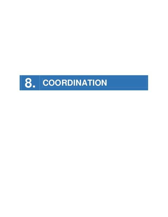 8.  COORDINATION