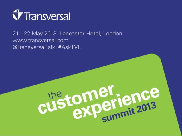 Gary Magenta,Senior Vice President, Client SolutionsRoot Inc.CXCustomer Experience:The Final Frontier21 May 2013