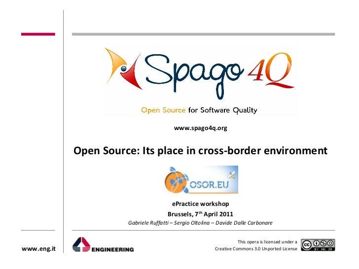 ePractice workshop on Open Source Software, 7 April 2011 - Davide Dalle Carbonare