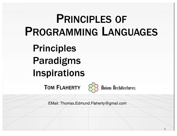 Principles Of Programing Languages
