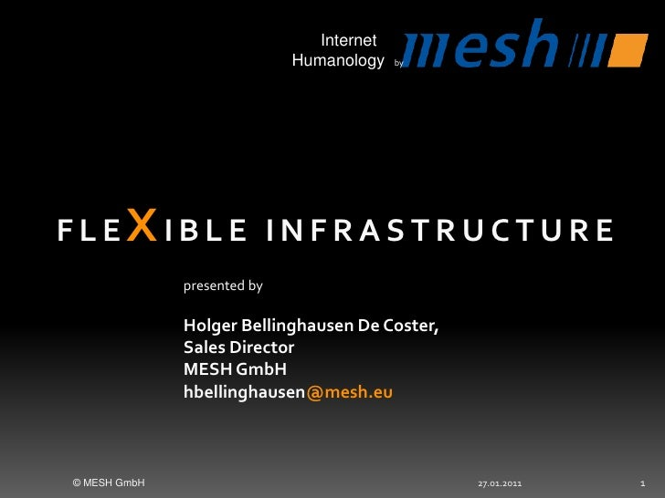 27.01.2011<br />© MESH GmbH<br />1<br />Flexible Infrastructure<br />presentedbyHolger Bellinghausen De Coster, <br />Sa...