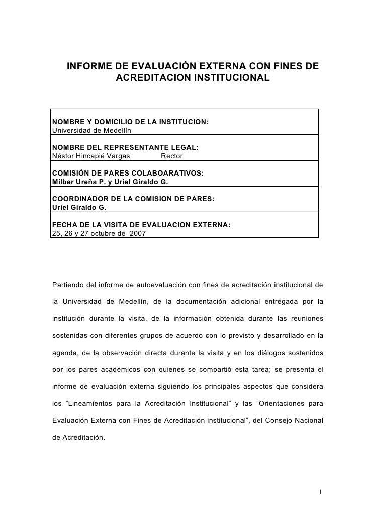 05. INFORME DE EVALUACIÓN EXTERNA CON FINES DE ACREDITACION INSTITUCIONAL