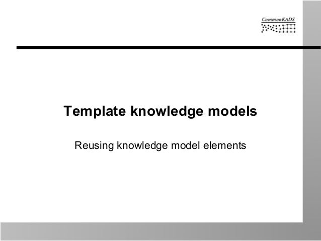 Template knowledge models Reusing knowledge model elements