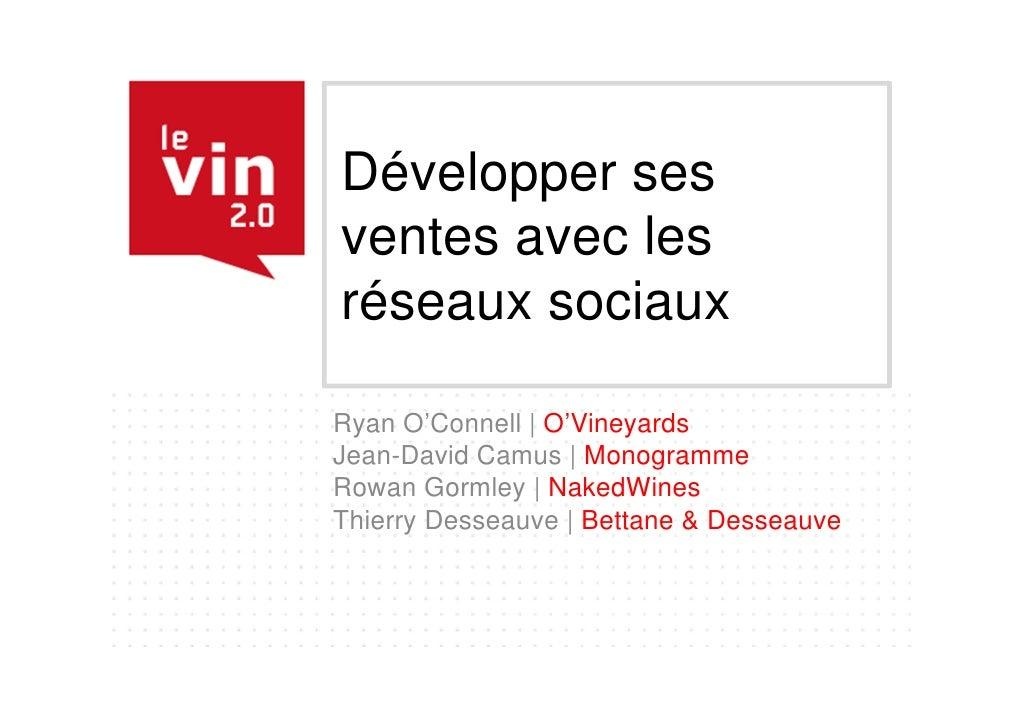 LE VIN 2.0 - #04 - Développer ses ventes avec les réseaux sociaux
