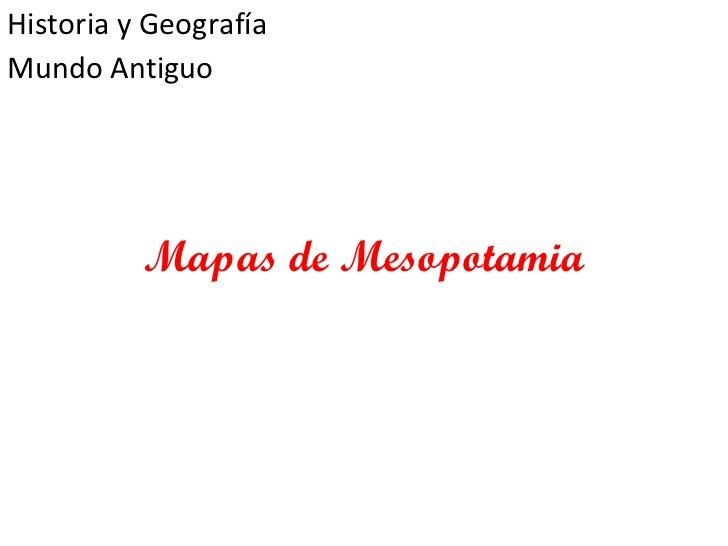 Mapas de Mesopotamia