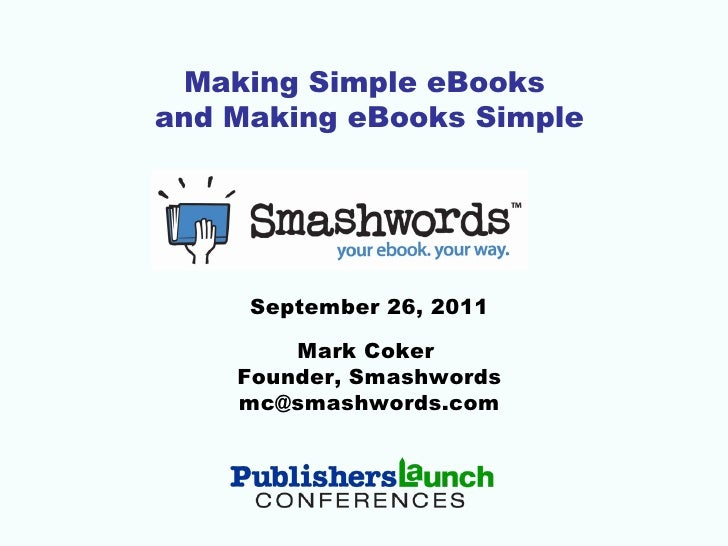 Making Simple eBooks and Making eBooks Simple
