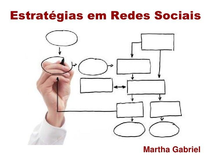 Estratégias em Redes Sociais                        Martha Gabriel