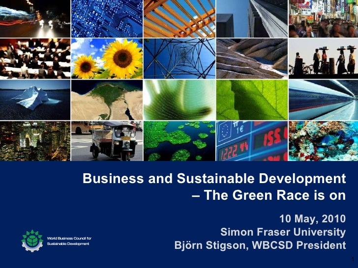 Business and Sustainable Development - The Green Race is On