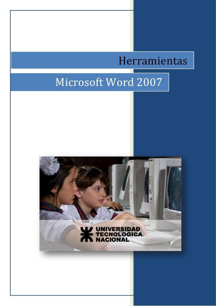 Word 2007 - herramientas