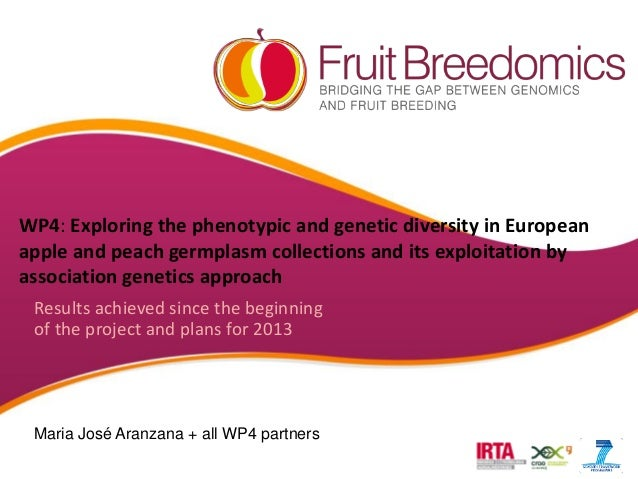 WP4: Exploring the phenotypic and genetic diversity in European apple and peach germplasm collections and its exploitation...