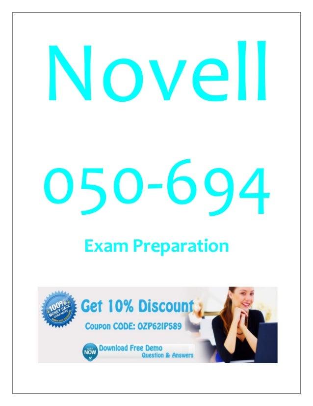 Novell 050-694 Exam Preparation