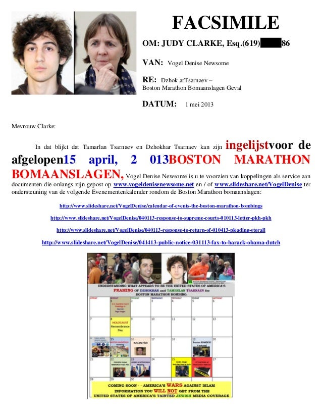 050113   fax to judy clarke (boston marathon bombing) - dutch