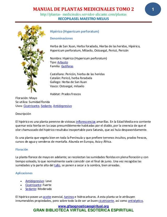 05 02 08 manual de plantas medicinales   tomo 2 recopilasel  maestro melius www.gftaognosticaespiritual.org
