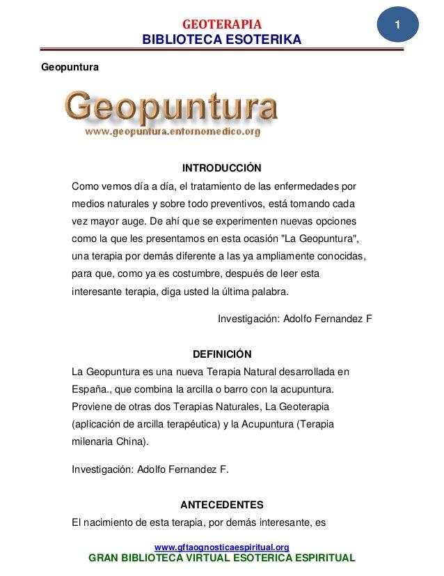GEOTERAPIA                                      1                     BIBLIOTECA ESOTERIKAGeopuntura                      ...