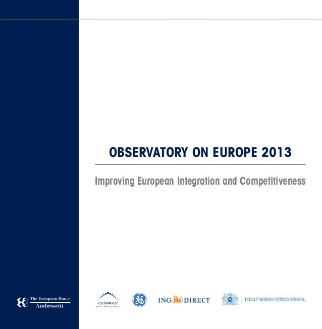 Final Report Observatory On Europe 2013